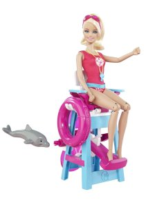 LIFEGUARD BARBIE WITH LAUNCHING CHAIR SO SHE CAN DIVE flyer