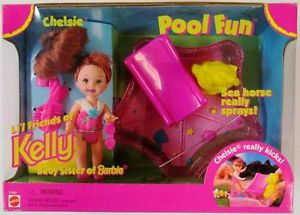 Pool Fun Chelsie Doll, Li'l Friends of Kelly Doll, Baby Sister of Barbie Doll