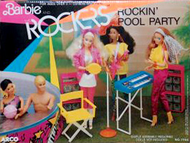 1986 Barbie Rockin' Pool Party
