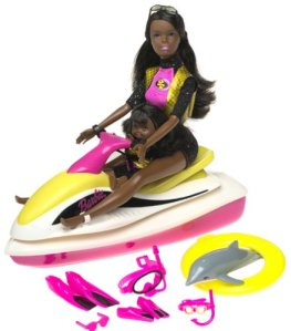 Sea Splashin' Barbie & Kelly Play Set w Working Watercraft, Dolphin & More! aa flyer