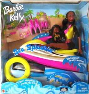 Sea Splashin' Barbie & Kelly Play Set w Working Watercraft, Dolphin & More! aa