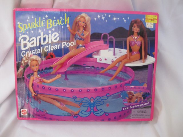 Sparkle Beach BARBIE Crystal Clear Pool Playset