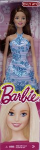 Target Exclusive Barbie in Turquoise white Satin Dress Brunette