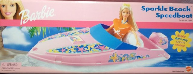 2002 #67413 Barbie Sparkle Beach Speedboat - NRFB