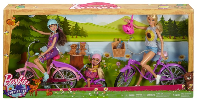 Barbie Camping Fun Dolls, Bikes & Accessories