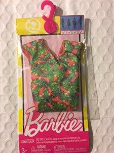 barbie-fashions-green-flutter-sleeve-dress