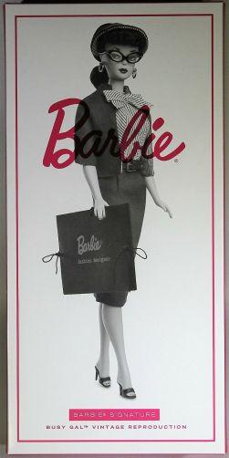 16345b6a6efb Repro Busy Gal Barbie doll – 60th Anniversary Barbie Doll.