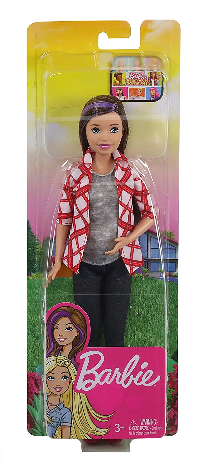 Barbie Life In Dreamhouse Style Grace Doll Outfit Gray Sparkle Sweater Dot Shirt