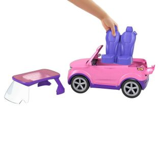 Barbie Big City, Big Dreams Set with Pink 4x4 Convertible Vehicle that Reveals Stage, Drums and Touring Accessories 1