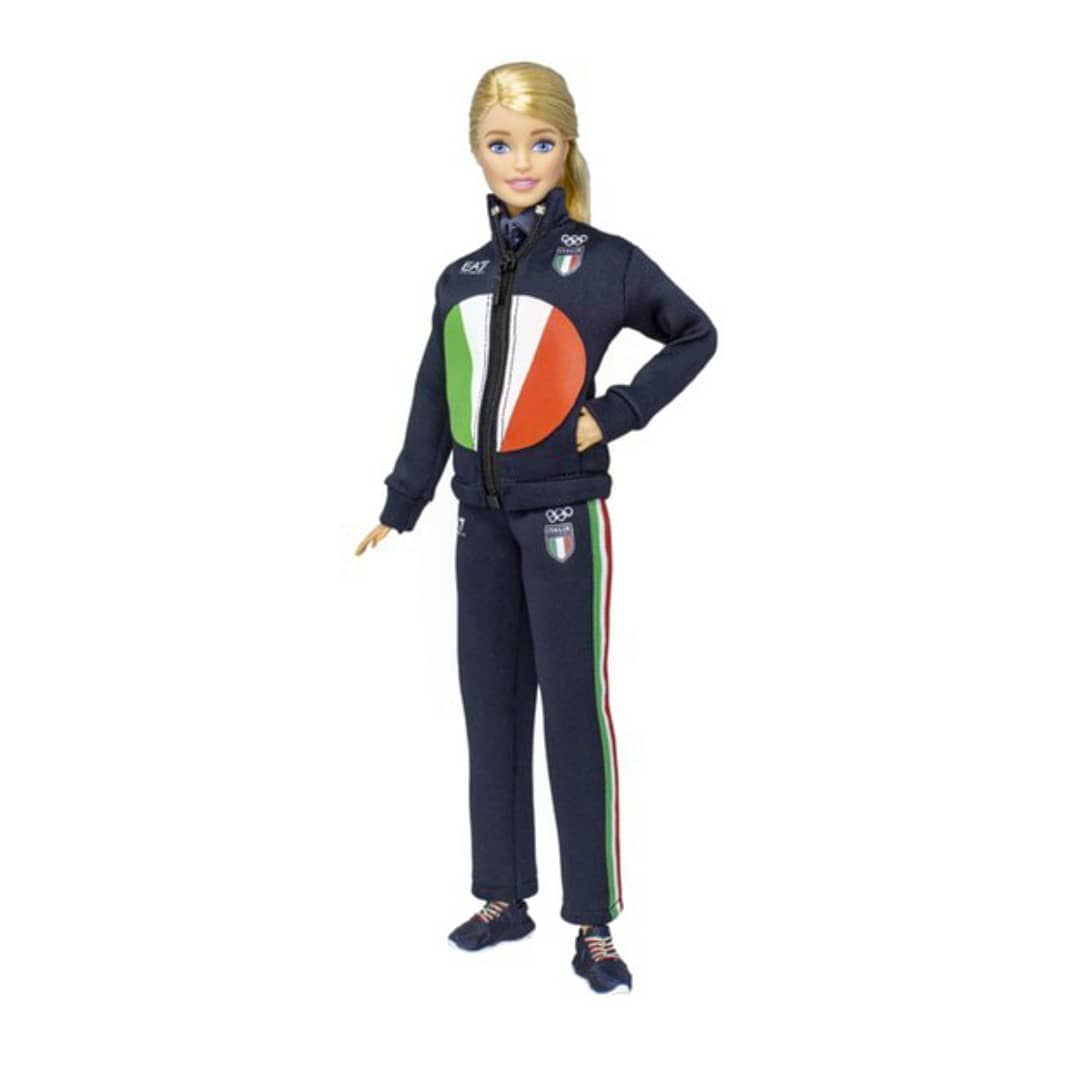 Barbie Tokyo 2020 with the italian tracksuit