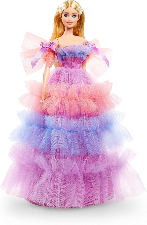 DRESS ONLY BARBIE DOLL MATTEL THE ORCHID LAVENDER  EVENING GOWN ACCESSORY