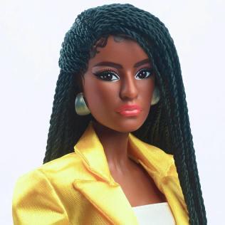 Power Pair Barbie & Ken giftset, the 2021 Virtual Barbie Convention exclusive! face Barbie 2