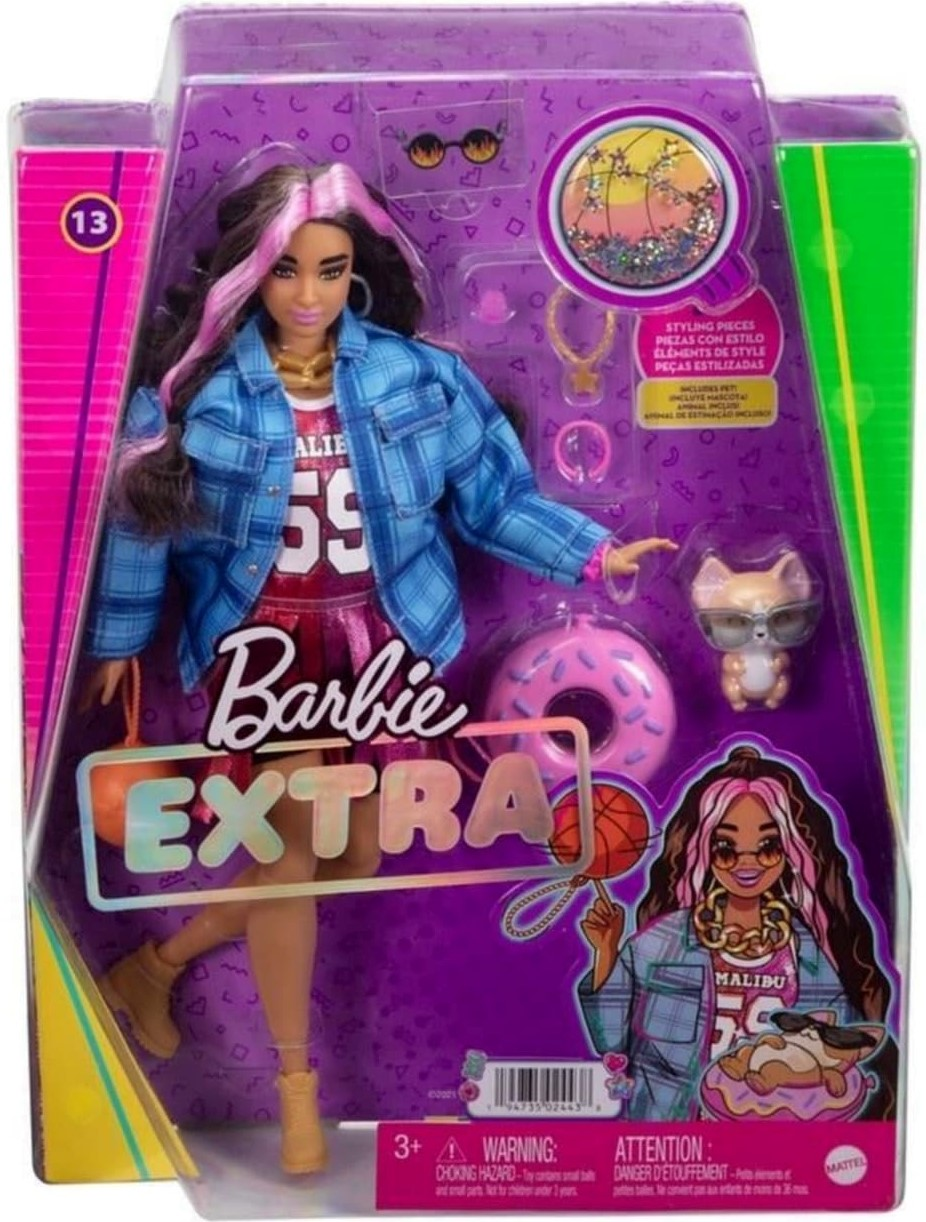 2022 Barbie Extra Black and Pink Hair NRFB