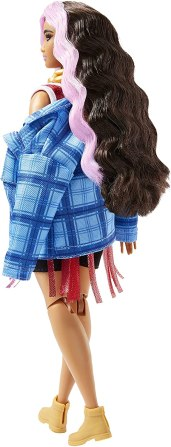 Barbie Extra Doll Black and Pink Hair back