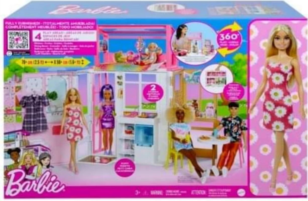 Barbie House with a Doll. NRFB