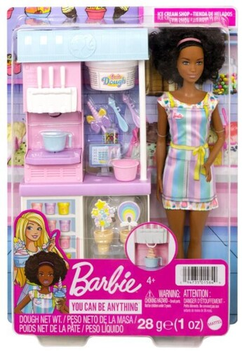 BARBIE I CAN BE MEDIA ICE CREAM PARLOR PLAYSET Brunette NRFB
