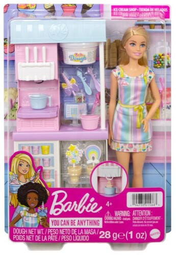 BARBIE I CAN BE MEDIA ICE CREAM PARLOR PLAYSET nrfb